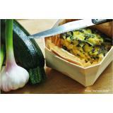 Custard tart of zucchini
